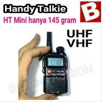 Paling Populer Ht Handy Talky Mini Baofeng Uv 3R Plus Dual Band Baru