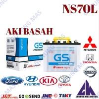 Aki Mobil NS70L Batre Battery Accu Basah NS 70 L Baterai GS Premium