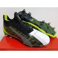 Sepatu Bola - Soccer Puma One 5.1 White Black Yellow Alert - FG