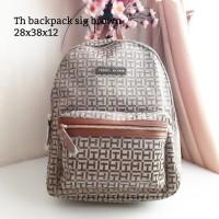 Tommy hilfiger backpack sig brown original bag