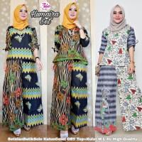 Batik Wanita Humaira Set Setelan Batik Top+Kulot Bahan Katun Colet