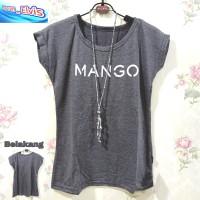 Kaos / T-Shirt / Wanita / Abu Gelap / Mango