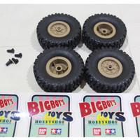 Ban Karet 4WD RC Buggy Street Monster Rubber Wheel Set bukan Tamiya