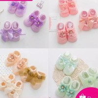 Sepatu bayi perempuan prewalker princess lucu kaos kaki korea renda