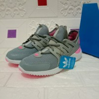 Sepatu Wanita Adidas Alphabounce Tubular Abu Pink Size 37-40