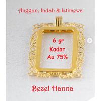 Emas Logam Mulia Antam Bezel Hanna 6 Gram untuk Emas Batik 10 Gram
