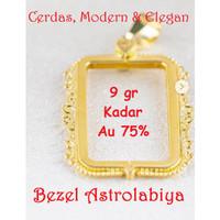 Emas Logam Mulia Antam Bezel Astrolabiya 9 Gram untuk Emas Batik 20 Gr