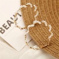 Pearl Hoop Earring / anting bulat fashion wanita korea murah utk pesta