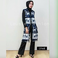 ethnic Long vest Tenun outer outwear cardigan batik