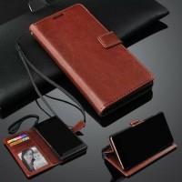 Asus Zen Max Pro M1 Leather Case Sarung Buku Kulit Flip Wallet