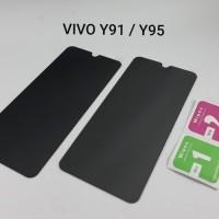 Vivo Y91 / Y93 Y95 Y91C Tempered Glass Spy Anti Gores Kaca Gelap Hitam
