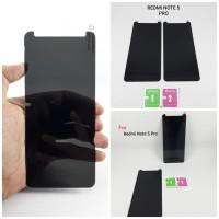 Xiaomi Redmi Note 5 Tempered Glass Spy Anti Gores Kaca Hitam Gelap