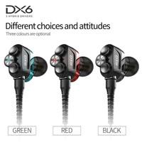 Plextone DX6 3 Driver Gaming Earphone Sport Earphone Headset Hifi Ori