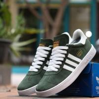 Sepatu Sneakers Pria Adidas Gazelle Green White Import