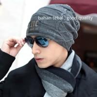 Kupluk Wool Winter Hat Gunung Rajut Beanie Pria wanita dewasa tebal-NC