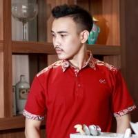 Kaos Polo Batik Pria Miscell Red - Alinskie brothers