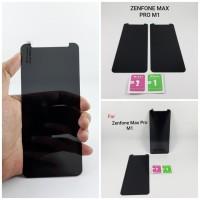 Asus Zenfone Max Pro M1 Tempered Glass Spy Anti Gores Kaca Gelap Hitam