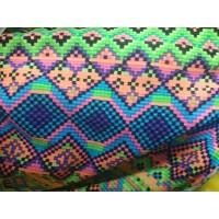 Kain Spandex Lycra Licra Motif Warna Warni untuk baju renang senam