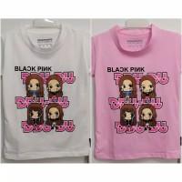 Baju Kaos Anak Perempuan Blackpink ddudu Size M - XL Bahan Katun
