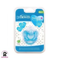 DR BROWNS Silicone Soother NewBorn 0m Empeng Bayi Blue -DB018