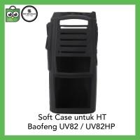 Softcase Baofeng UV82 HITAM Silicone Silicon Silikon Soft Case UV-82