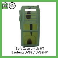 Softcase Baofeng UV82 HIJAU CAMO Silicone Silikon Soft Case UV-82