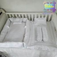 kasur bayi baby nest dan set bedcover rumbay bantal bayi putih polos