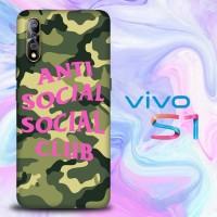 Casing Vivo S1 Custom anti social social club logo camo Z4951
