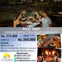 Bali Zoo - Dinner with The Great Elephant untuk Anak-anak