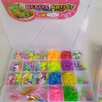 Mainan Anak Edukasi Rainbow Loom DIY / Perhiasan Set Mote Bead Gelang