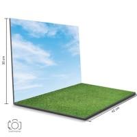 Alas Foto Lipat Rumput & Langit 42x30 cm / Background Foto (GDL-01)