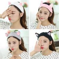 Bandana Bando Motif Kuping Hairband Korea Lucu Bando Kucing New