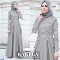 Maxi kaella/gamis brokat/maxi dress muslim/baju hijab murah tren