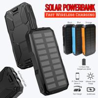 Solar Wireless Powerbank 2 LED Fast Charging 26800mAh Waterproof IP67