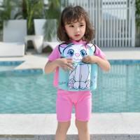 Baju Renang Anak Dengan Pelampung Perempuan Motif Kucing Import