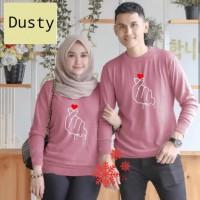 Couple sarangheo dusty baju remaja pasangan kaos couple cp sad per vt