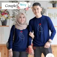 Couple sarangheo navy baju remaja pasangan kaos couple cp sad per vt