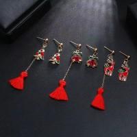 [READY] Anting Natal Christmas Asimetris Red Tassel 3 Variasi C013