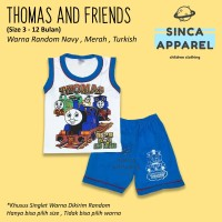 Baju Setelan Singlet Anak Bayi [Set Kaos Celana] - Thomas and Friends