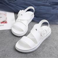Raja - (4 WARNA) Sandal Polos Wanita / Bahan Jelly Sol Karet / Sandal