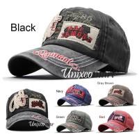 Hj 85 Topi Baseball Hat Cap Casual Sport Distro Pria Wanita Vintage - Black