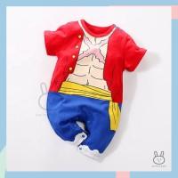 Baju Romper / Jumper Anak Bayi Laki-laki Anime Luffy One Piece