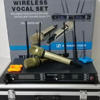 Mic Wireless Sennheiser SKM-9000 MK II Vokal Set 4 Antena Grade A - Hitam