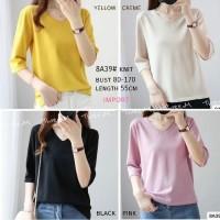knit import / Baju atasan wanita premium - style casual blus terbaru