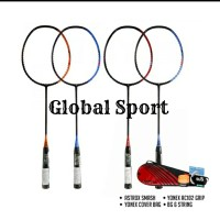 Raket Badminton Yonex Astrox Smash Bunddle Free Pasang Senar