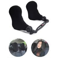 Car Seat Travel Headrest Bantal Leher Tidur Kursi Mobil
