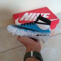 Sepatu Bola Anak Nike Mercurial CR7 High Biru Putih Import
