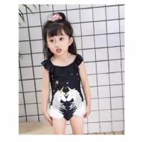 Baju Renang Anak Perempuan / Cewek Motif Double Unicorn Import