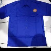 Baju kemeja karang taruna biru