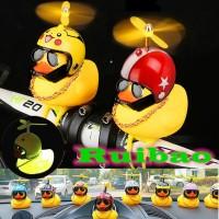 Mainan Bebek Kuning Helm Baling LED / Mobil / Motor